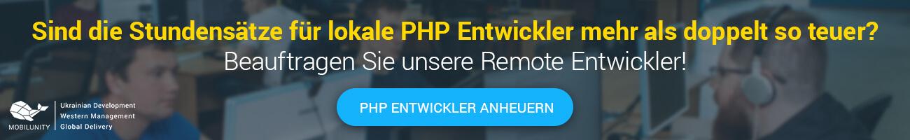 PHP Entwickler Stundensatz