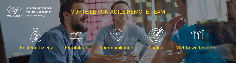 Remote Agile Entwickler Team von Mobilunity
