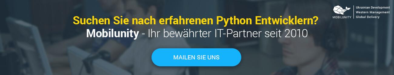 Python Entwickler gesucht
