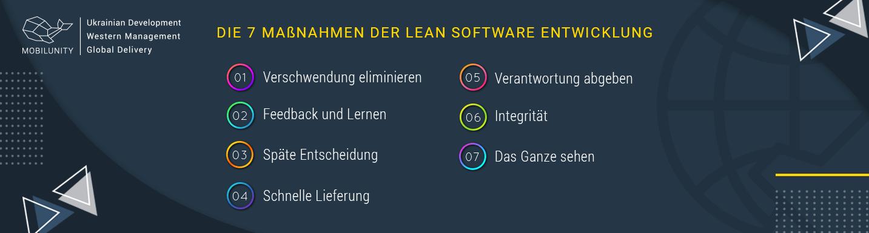 Die 7 Maßnahmen der Lean Software Entwicklung