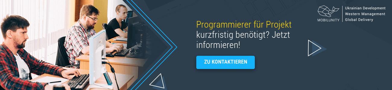 node js entwickler