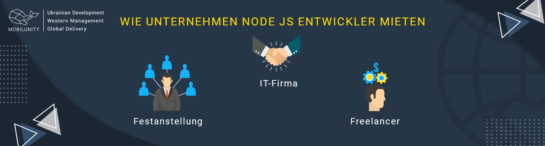 wie unternehmen node js entwickler mieten