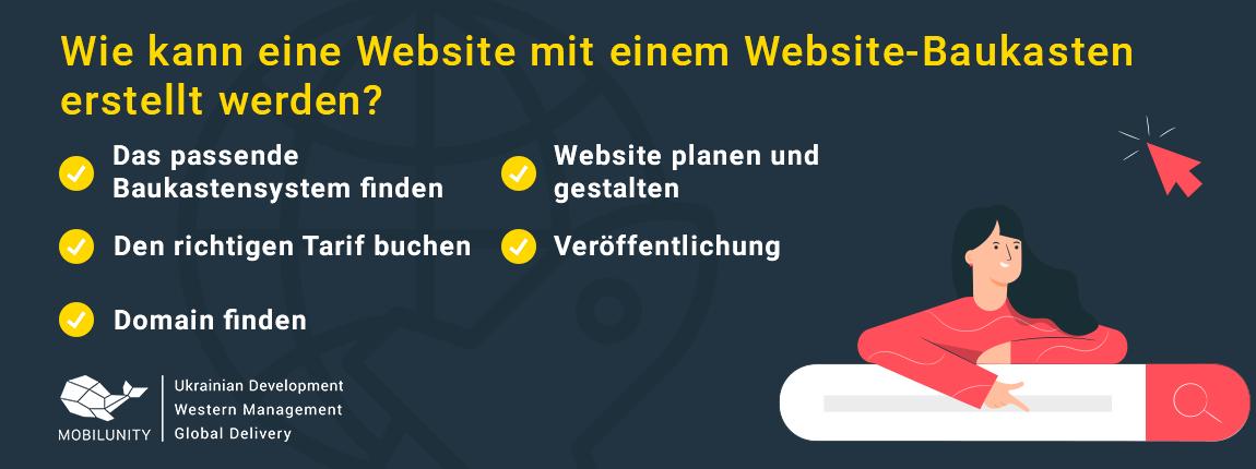 Homepage erstellen lassen mit einem Website-Baukasten