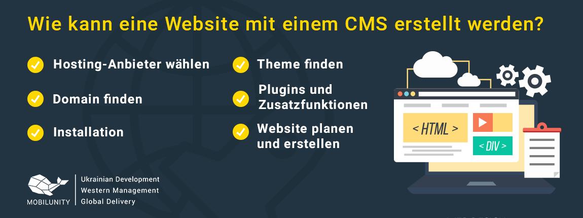 Website erstellen lassen mit einem CMS