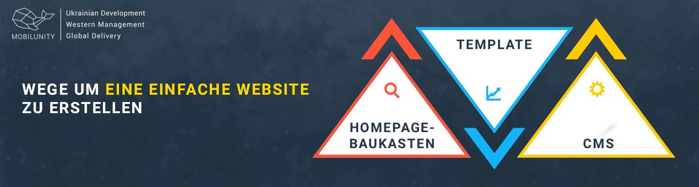 eine einfache Website zu erstellen