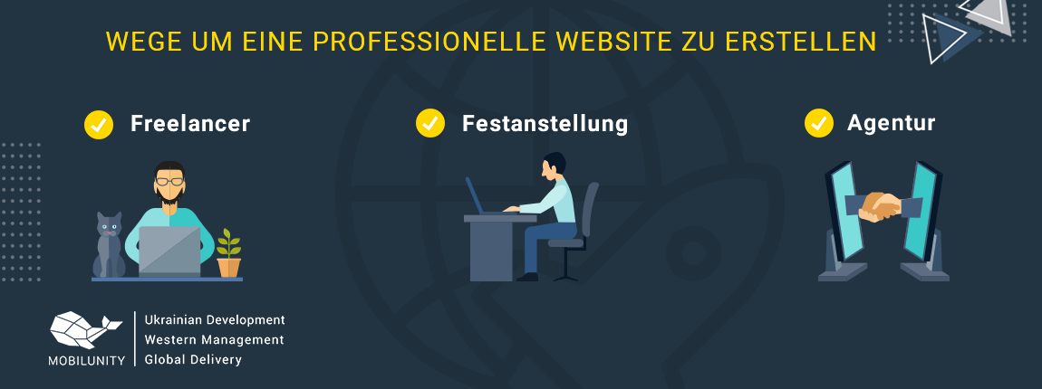 eine professionelle Website zu erstellen