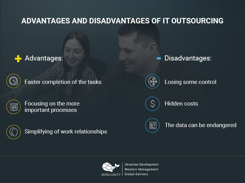 advantages and disadvantages of IT outsourcing