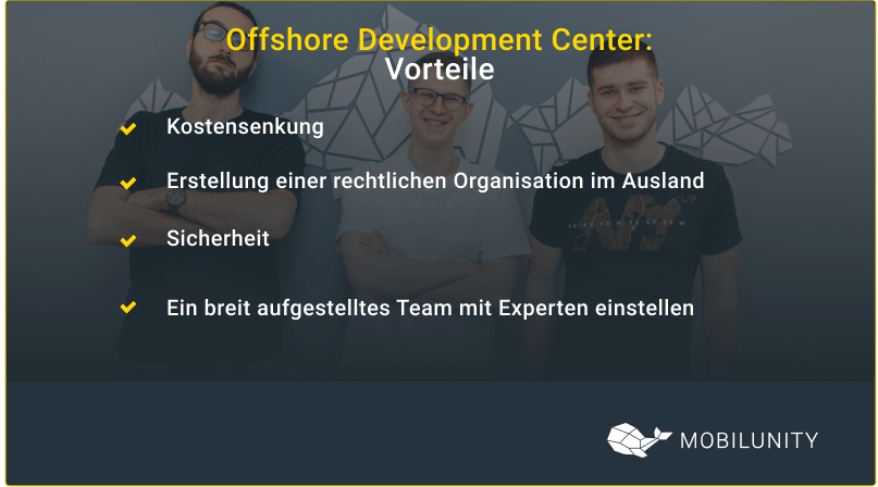 offshore development center vorteile