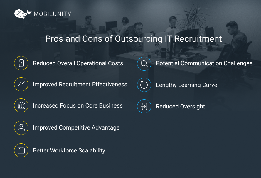 it recruitment outsourcing pros cons
